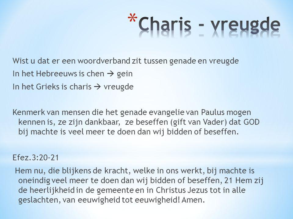 Charis - vreugde