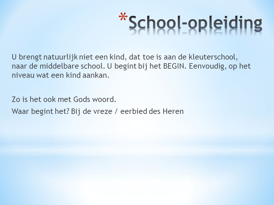 School-opleiding