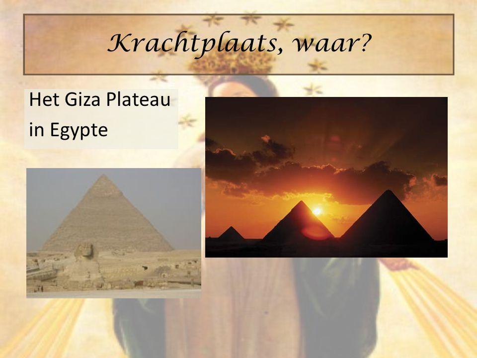 Krachtplaats, waar Het Giza Plateau in Egypte