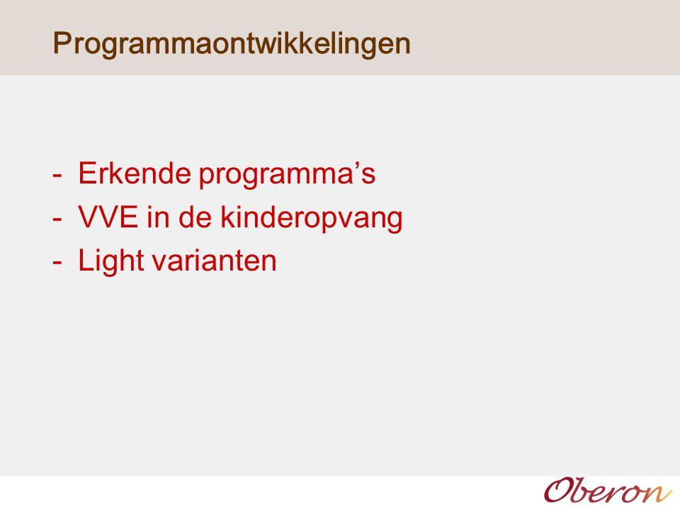 Programmaontwikkelingen