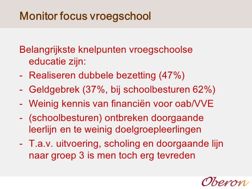Monitor focus vroegschool