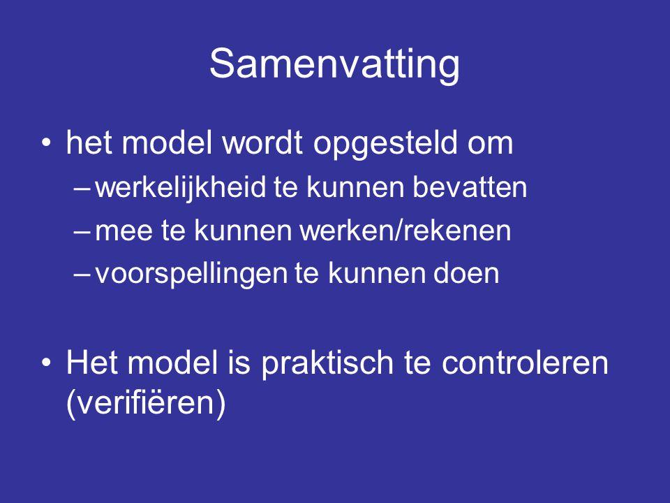 Samenvatting het model wordt opgesteld om