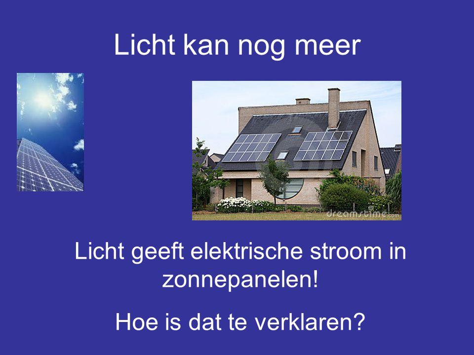 Licht geeft elektrische stroom in zonnepanelen!