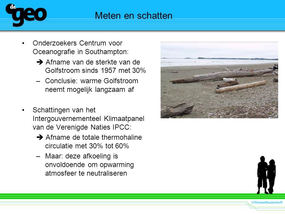 Meten en schatten Onderzoekers Centrum voor Oceanografie in Southampton:  Afname van de sterkte van de Golfstroom sinds 1957 met 30%