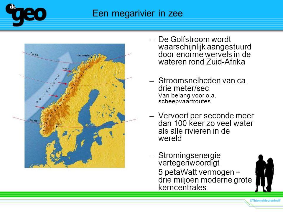 Een megarivier in zee De Golfstroom wordt waarschijnlijk aangestuurd door enorme wervels in de wateren rond Zuid-Afrika.