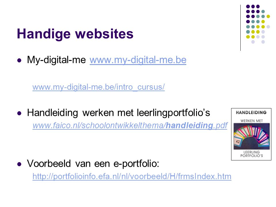 Handige websites My-digital-me www.my-digital-me.be