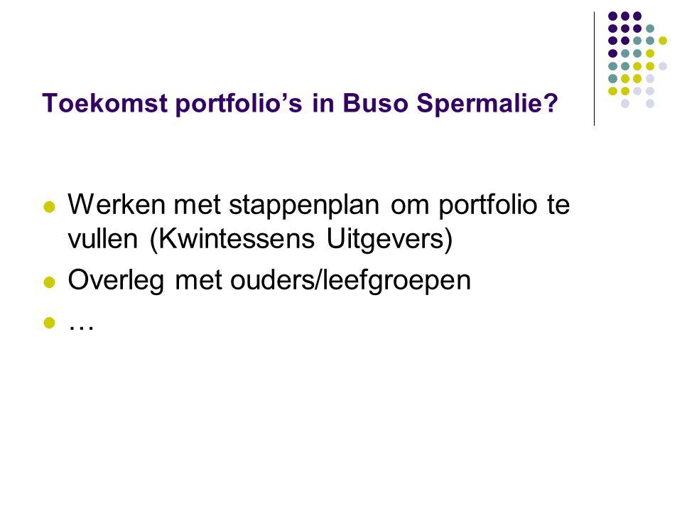 Toekomst portfolio's in Buso Spermalie