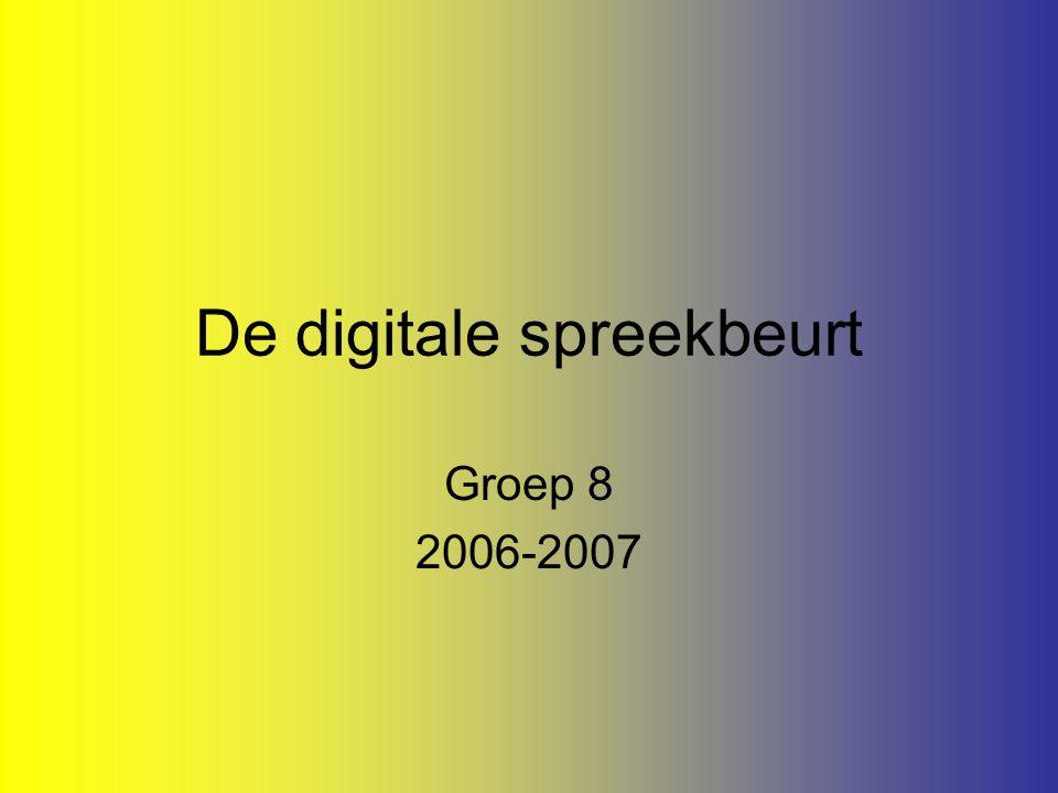 De digitale spreekbeurt