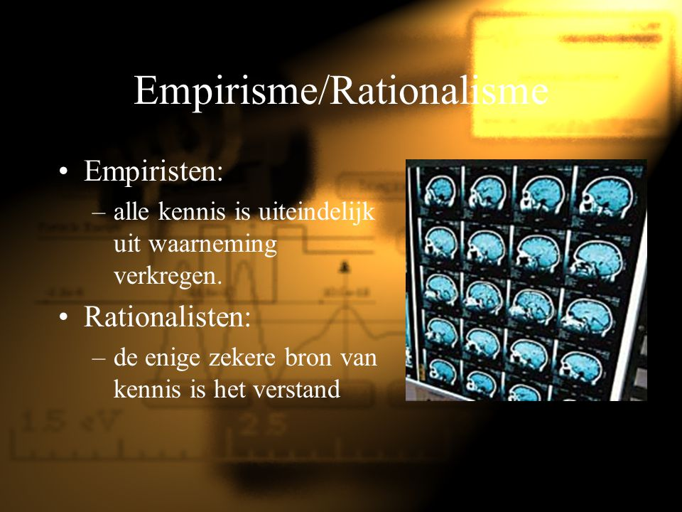 Empirisme/Rationalisme