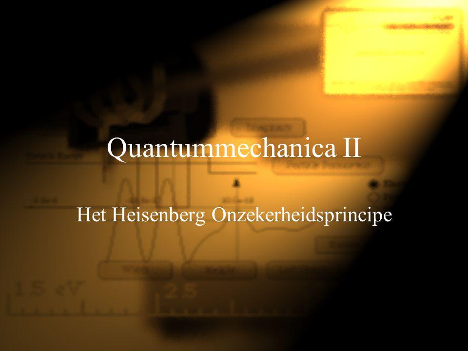 Het Heisenberg Onzekerheidsprincipe