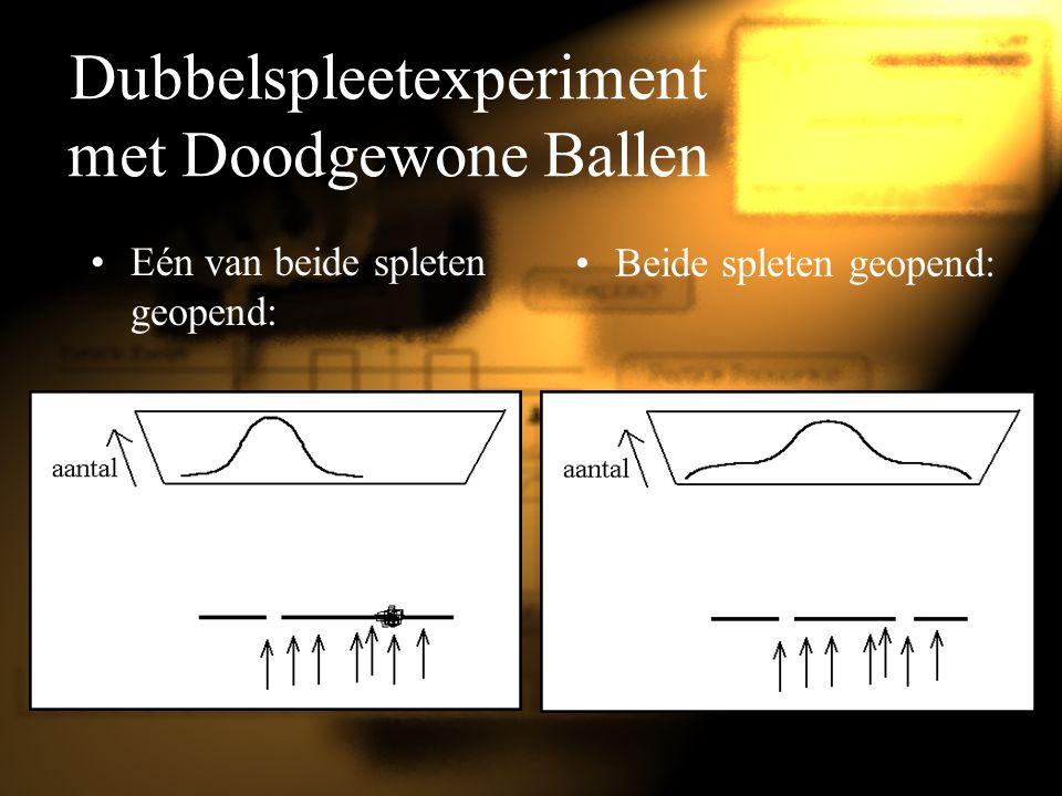 Dubbelspleetexperiment met Doodgewone Ballen
