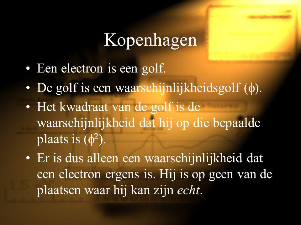 Kopenhagen Een electron is een golf.