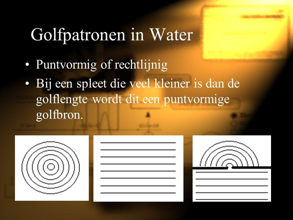 Golfpatronen in Water Puntvormig of rechtlijnig