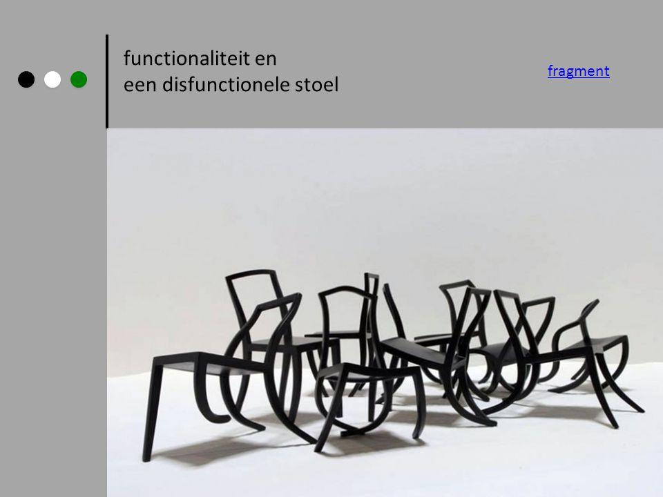 een disfunctionele stoel