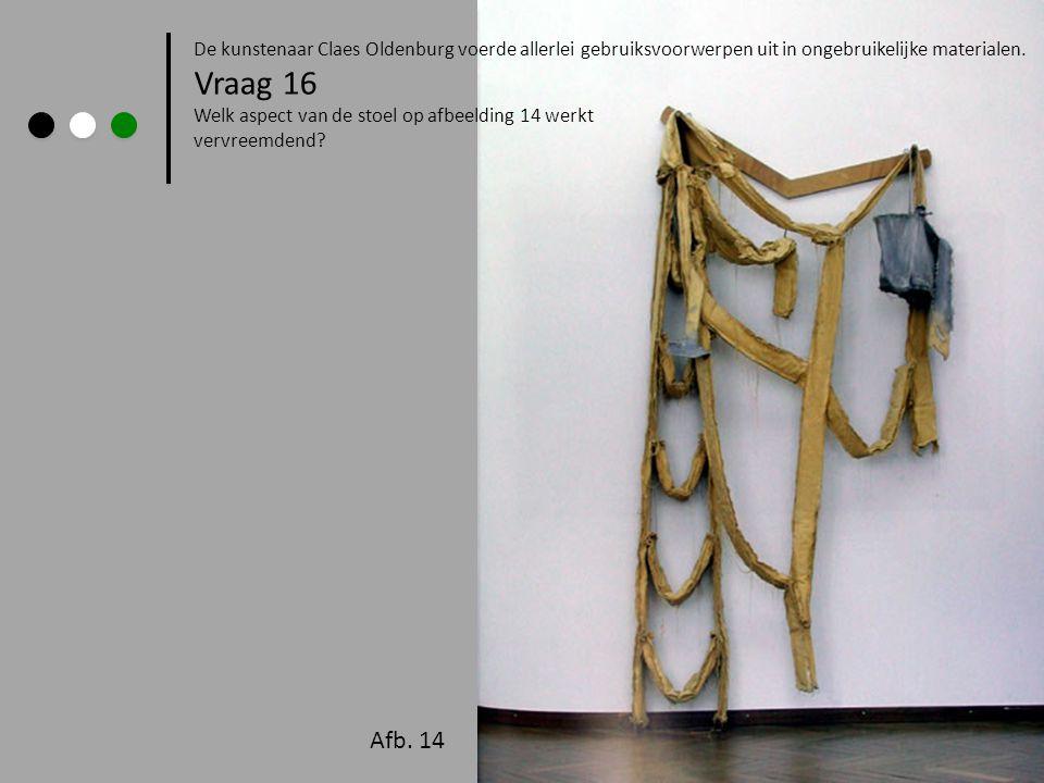 De kunstenaar Claes Oldenburg voerde allerlei gebruiksvoorwerpen uit in ongebruikelijke materialen.
