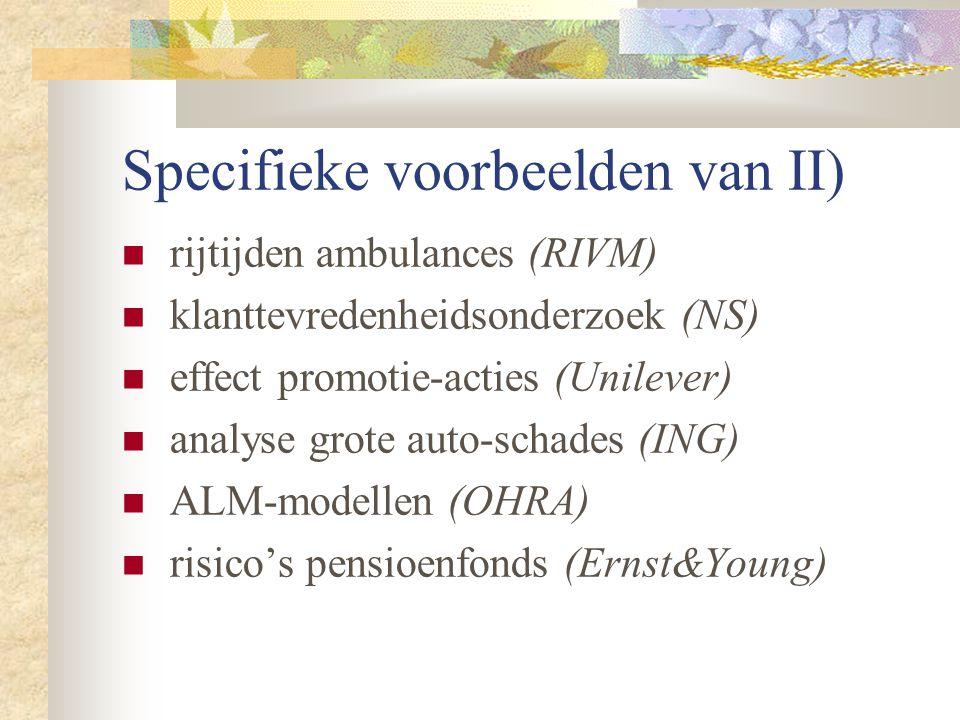 Specifieke voorbeelden van II)