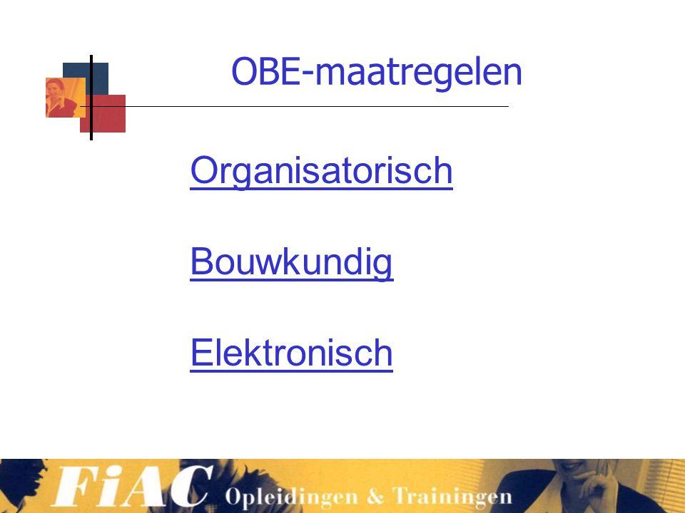 OBE-maatregelen Organisatorisch Bouwkundig Elektronisch www.vmb.biz
