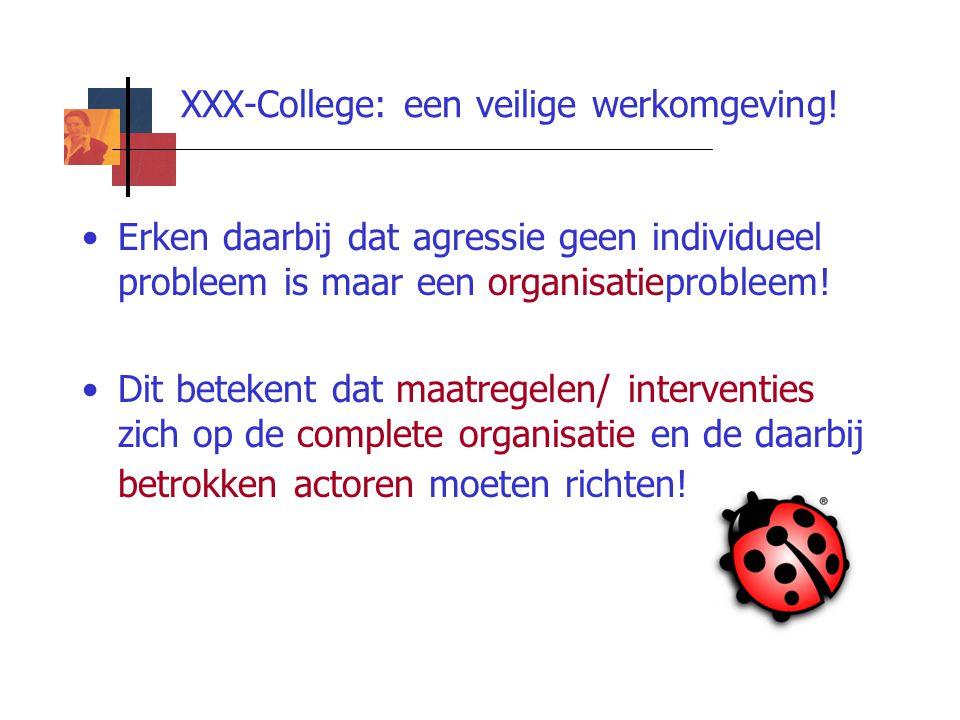 XXX-College: een veilige werkomgeving!