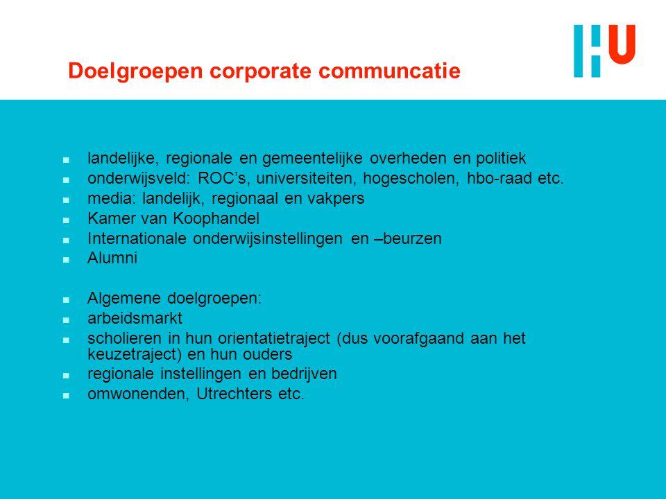 Doelgroepen corporate communcatie