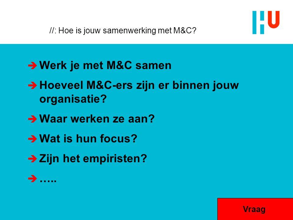 //: Hoe is jouw samenwerking met M&C