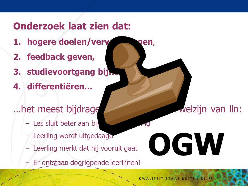 OGW Onderzoek laat zien dat: