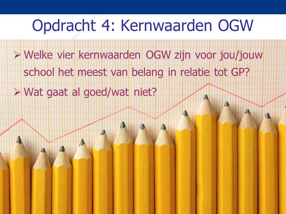 Opdracht 4: Kernwaarden OGW