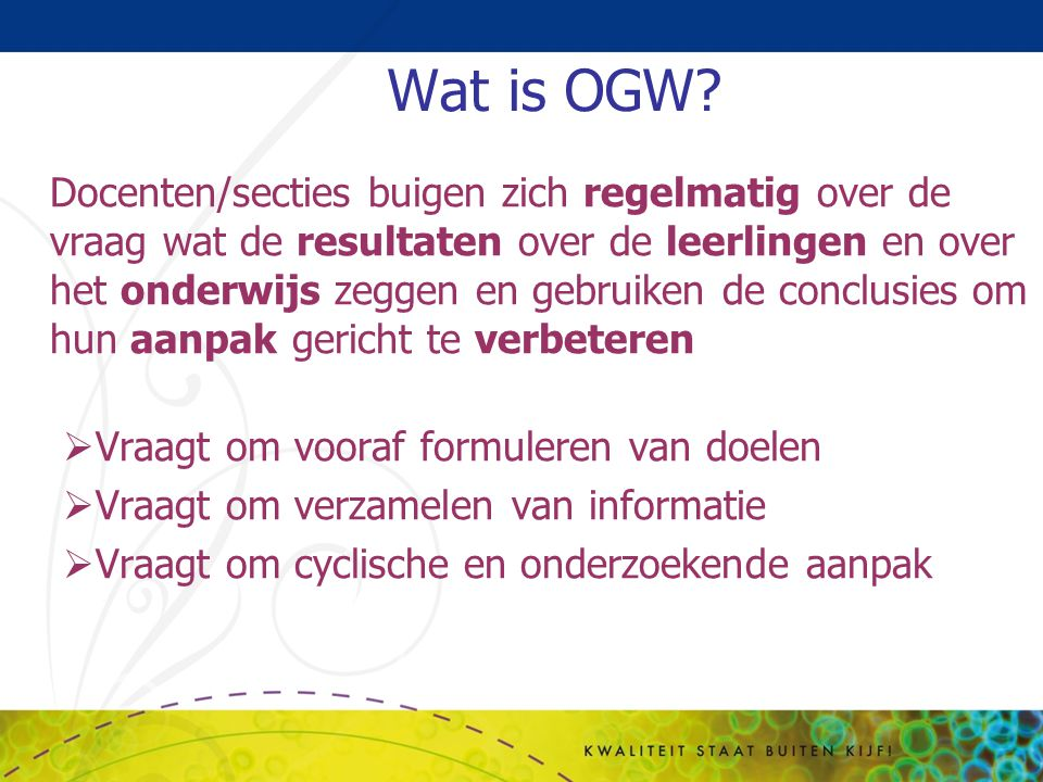 Wat is OGW