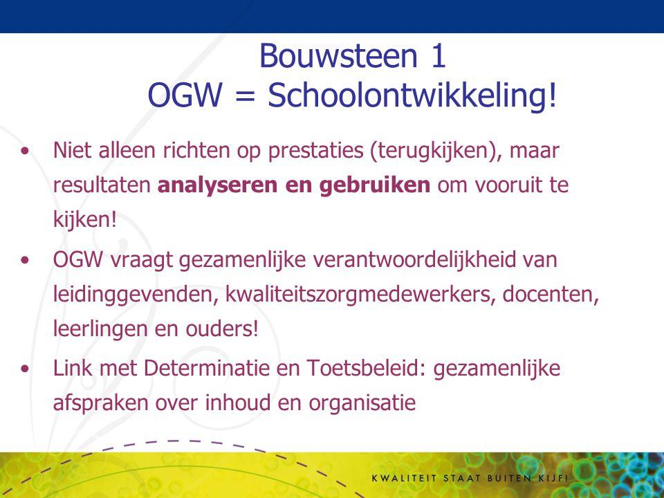 Bouwsteen 1 OGW = Schoolontwikkeling!