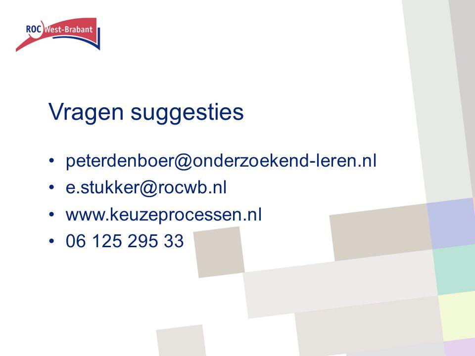 Vragen suggesties peterdenboer@onderzoekend-leren.nl