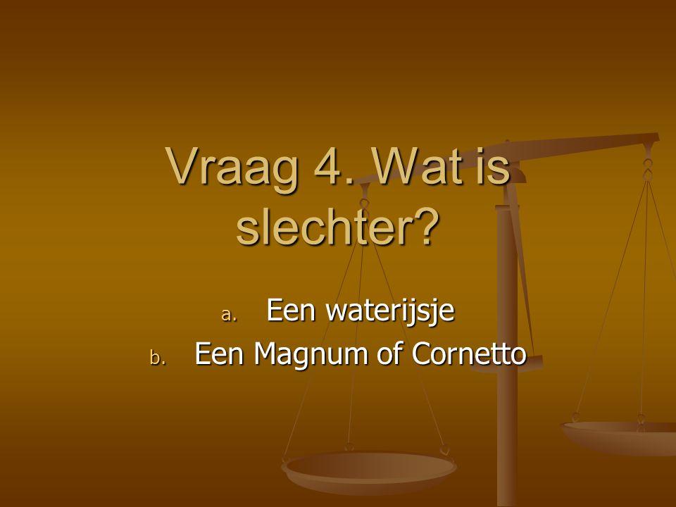 Een waterijsje Een Magnum of Cornetto