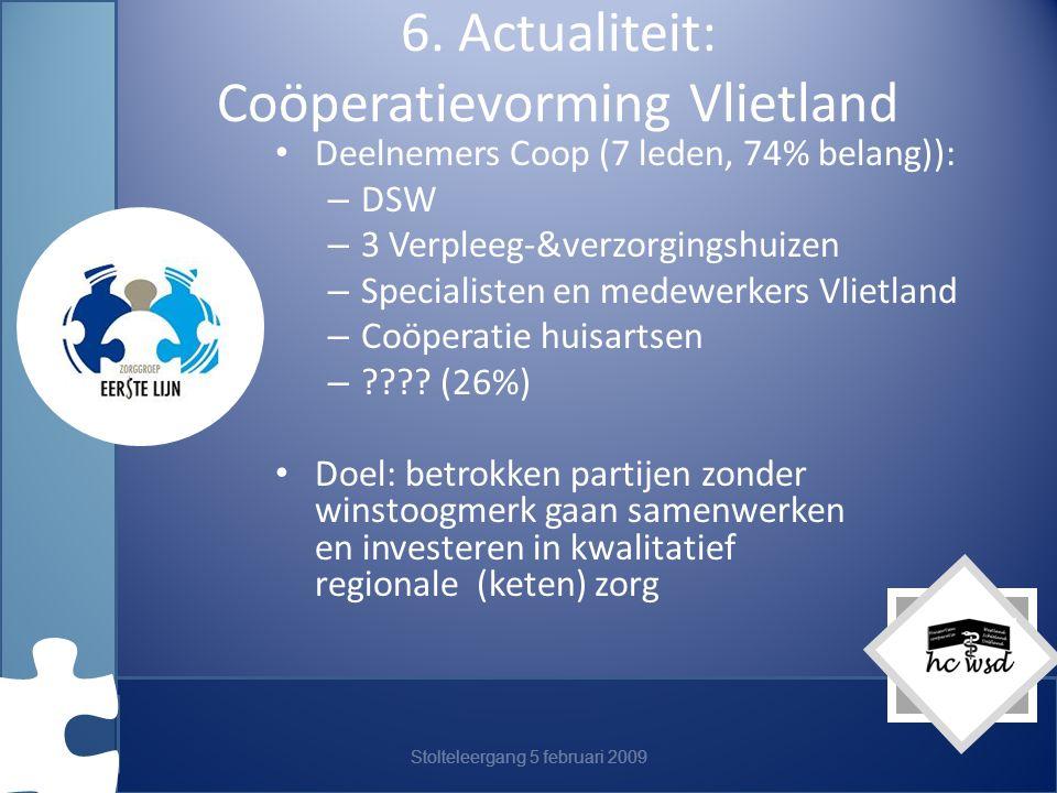 6. Actualiteit: Coöperatievorming Vlietland