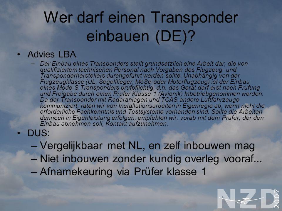 Wer darf einen Transponder einbauen (DE)