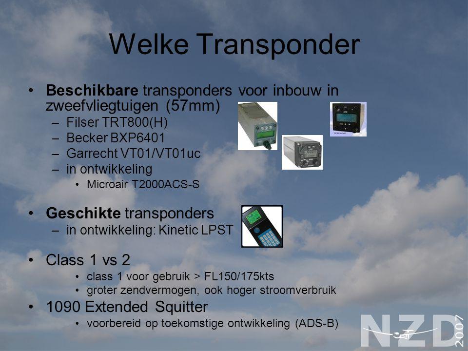 Welke Transponder Beschikbare transponders voor inbouw in zweefvliegtuigen (57mm) Filser TRT800(H)