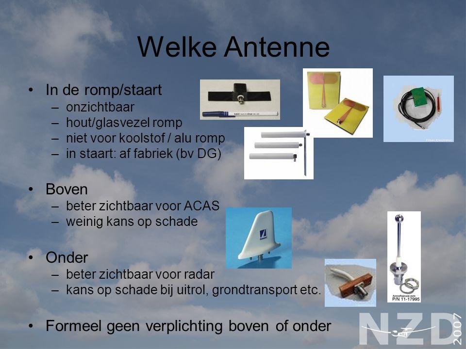 Welke Antenne In de romp/staart Boven Onder