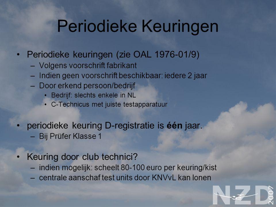Periodieke Keuringen Periodieke keuringen (zie OAL 1976-01/9)