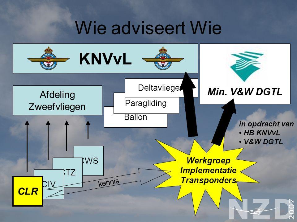 Wie adviseert Wie KNVvL KNVvL Afdeling Zweefvliegen CLR Afdeling