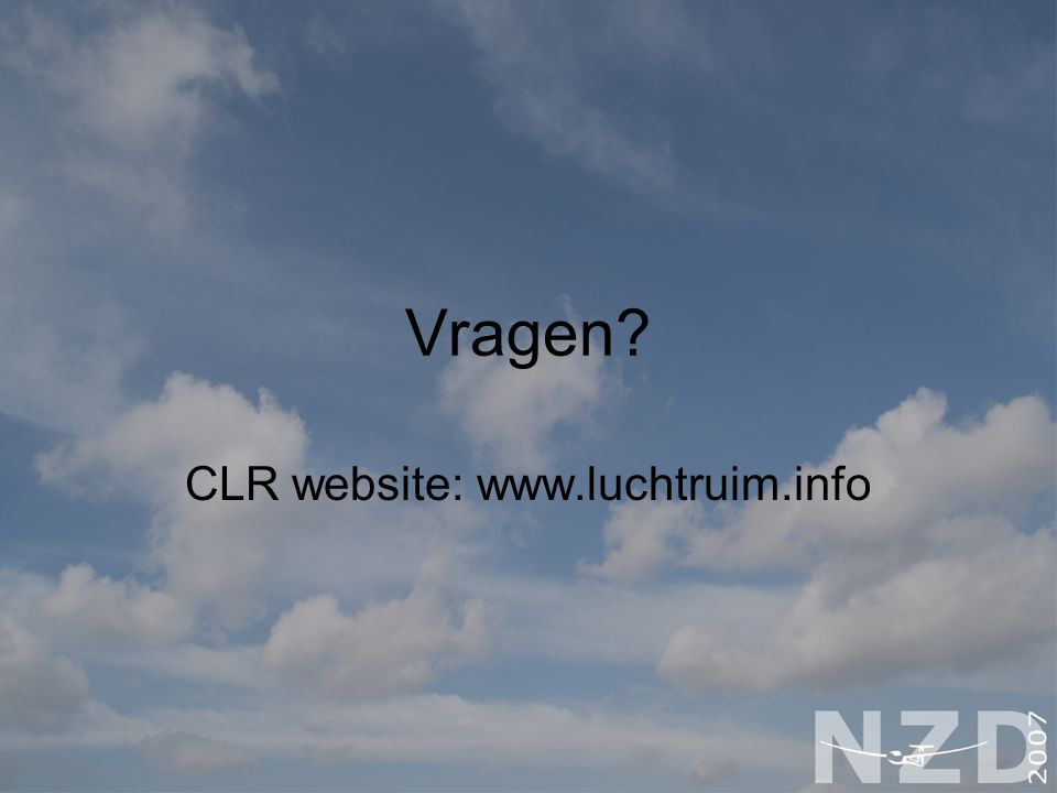 CLR website: www.luchtruim.info