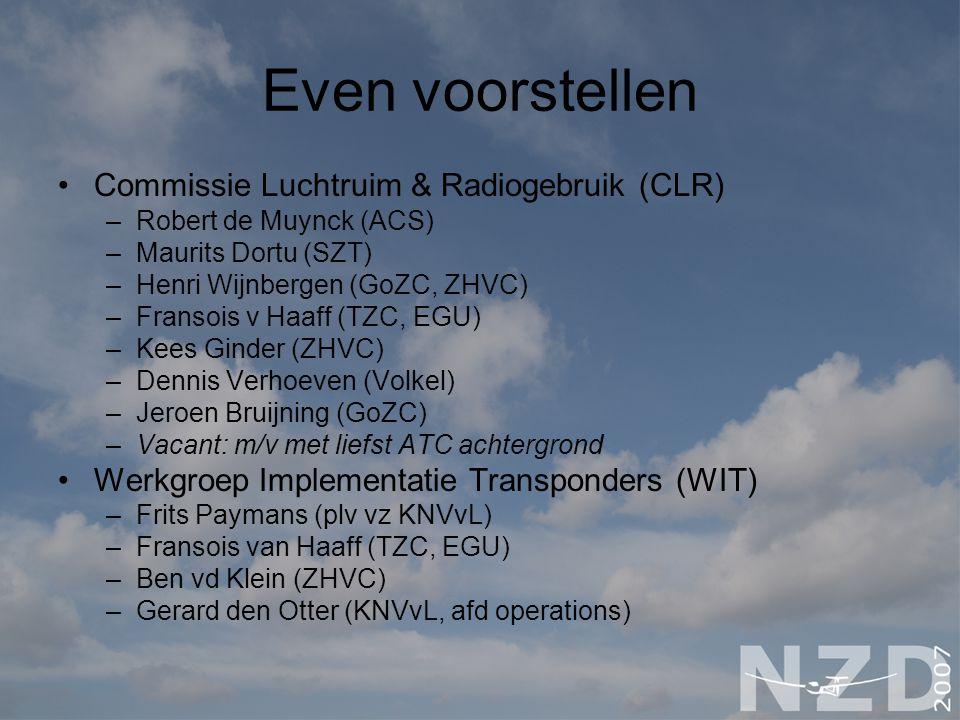 Even voorstellen Commissie Luchtruim & Radiogebruik (CLR)