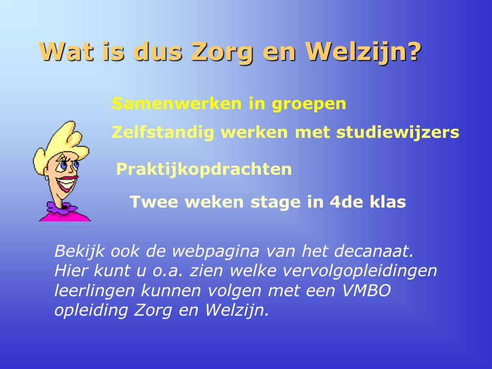 Wat is dus Zorg en Welzijn