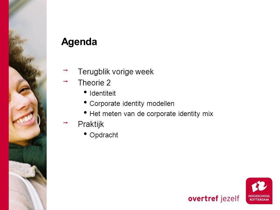 Agenda Terugblik vorige week Theorie 2 Praktijk Identiteit