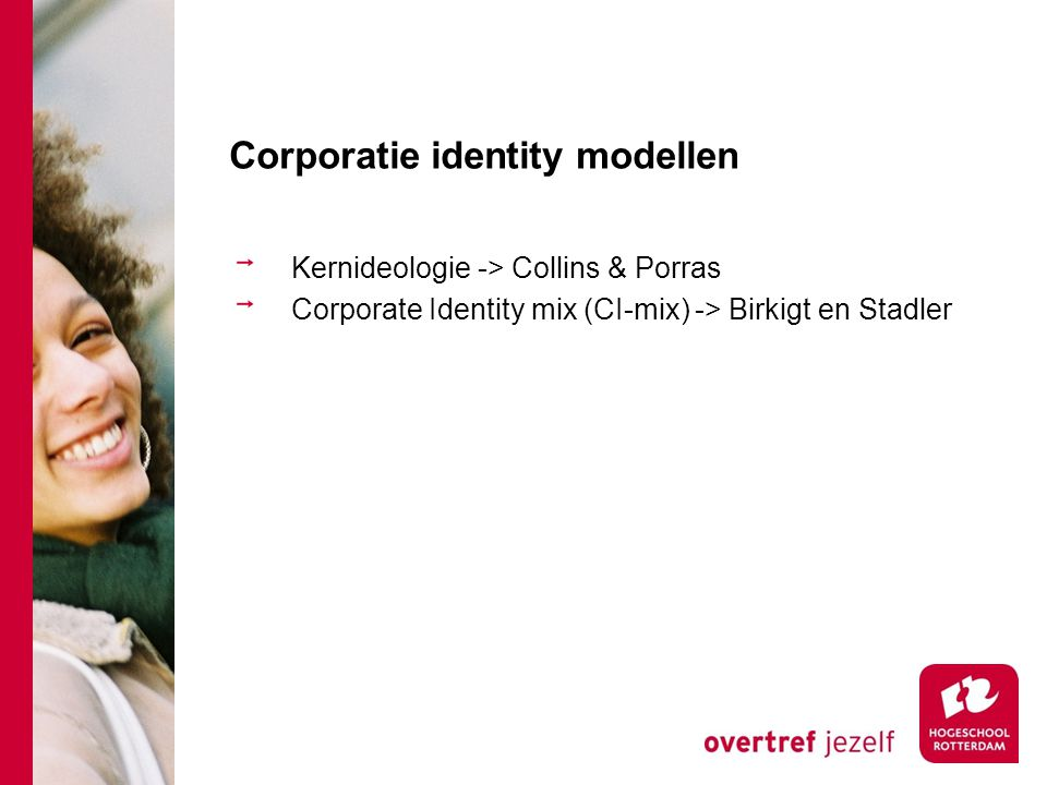 Corporatie identity modellen