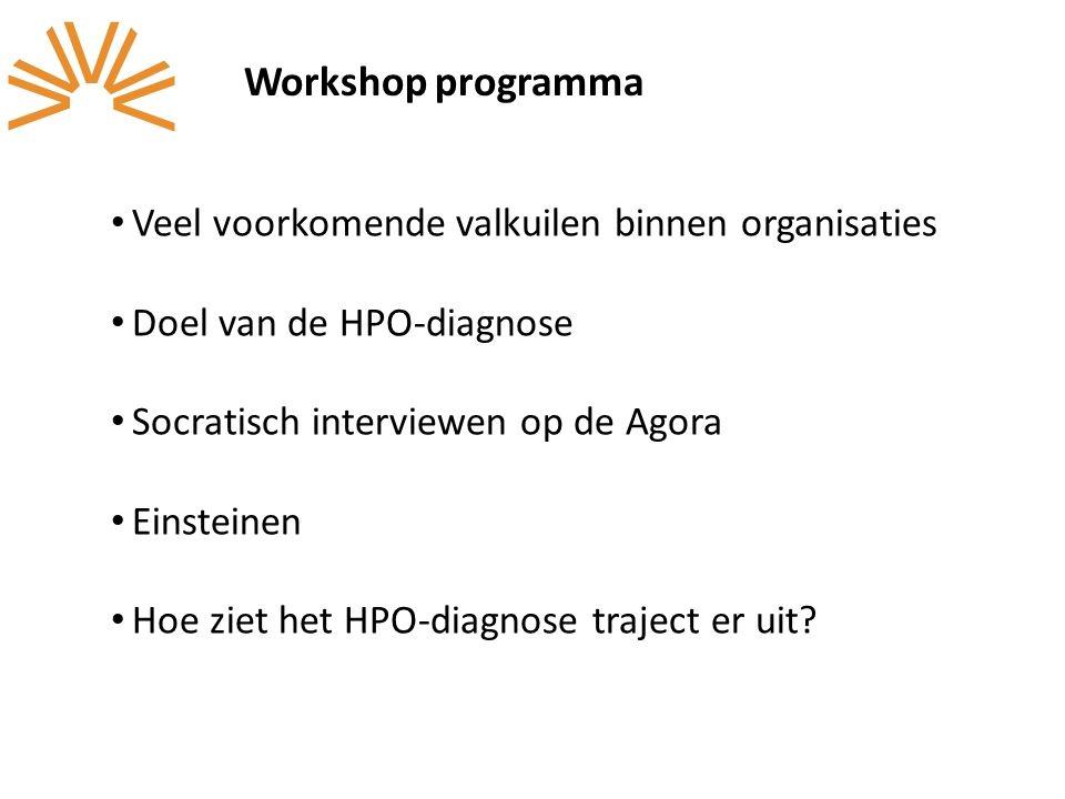 Workshop programma Veel voorkomende valkuilen binnen organisaties