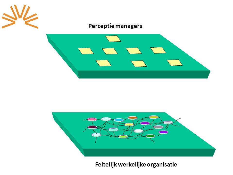 Perceptie managers Feitelijk werkelijke organisatie