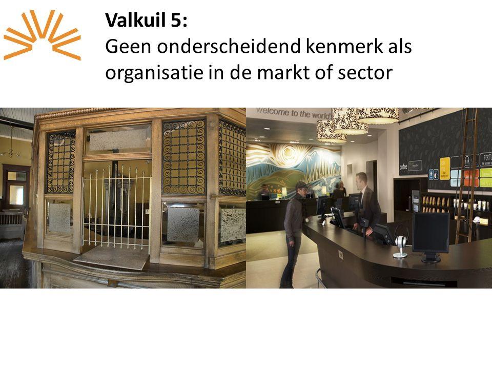 Valkuil 5: Geen onderscheidend kenmerk als organisatie in de markt of sector