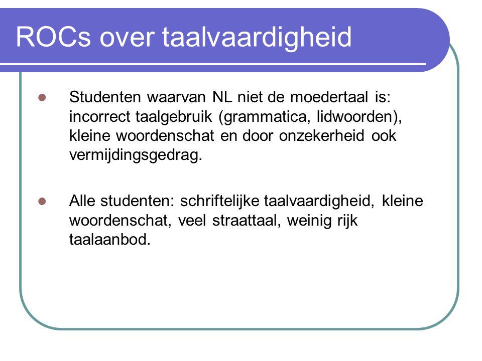 ROCs over taalvaardigheid