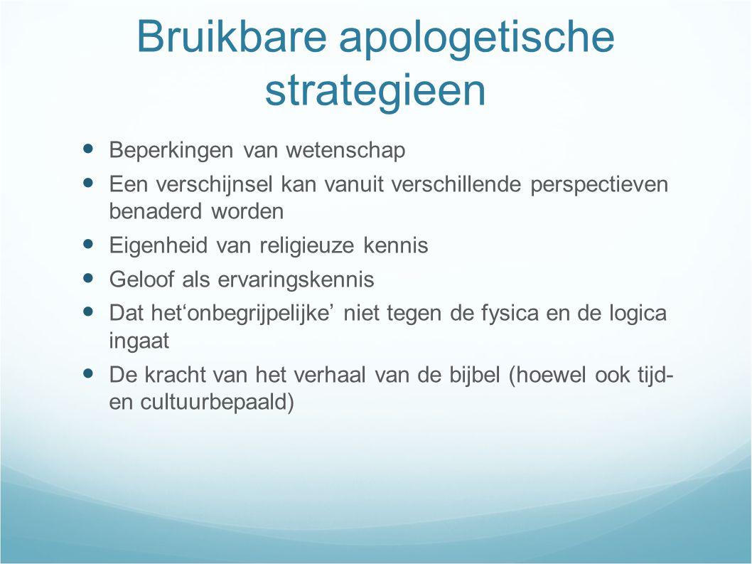Bruikbare apologetische strategieen
