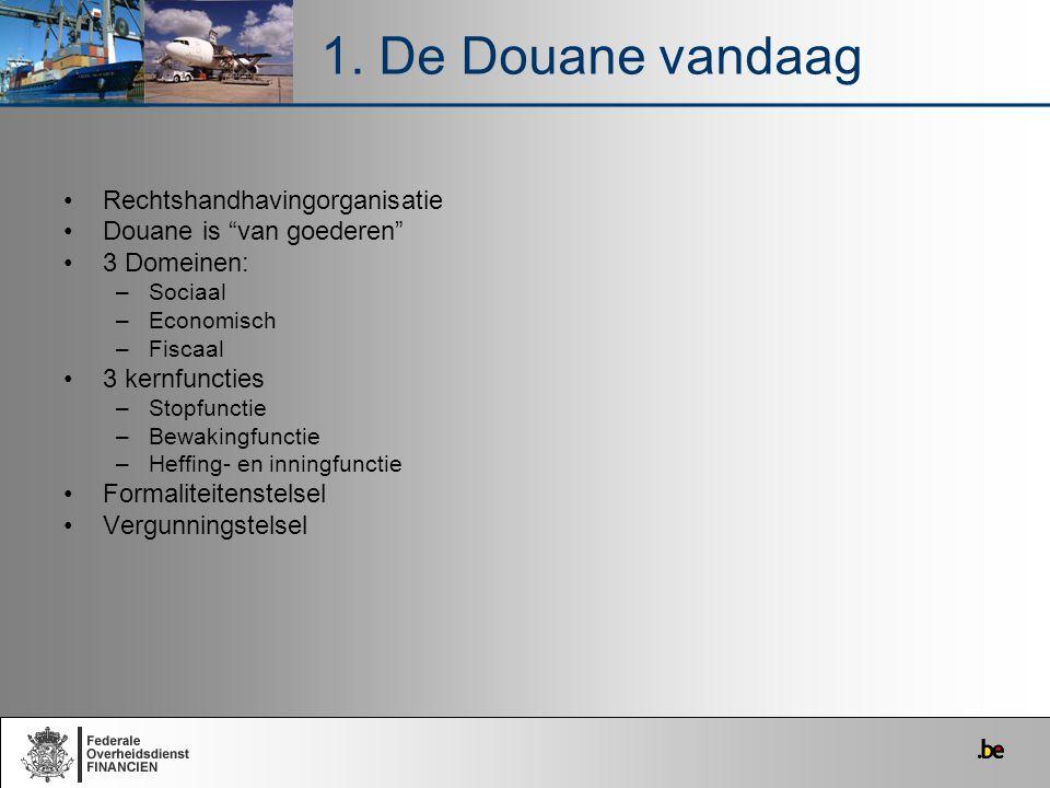 1. De Douane vandaag Rechtshandhavingorganisatie