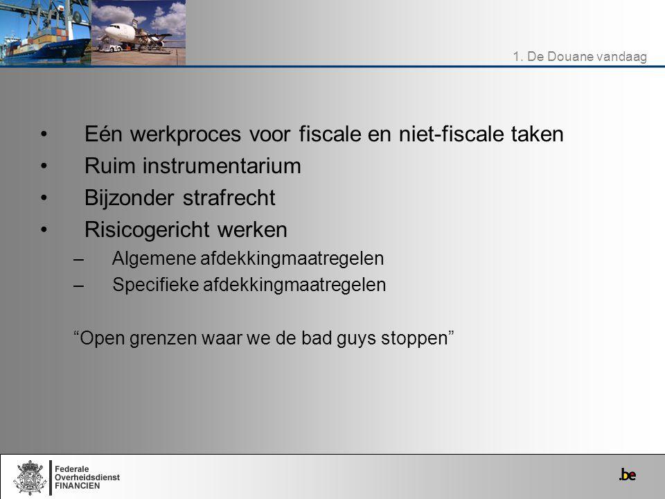 Eén werkproces voor fiscale en niet-fiscale taken Ruim instrumentarium