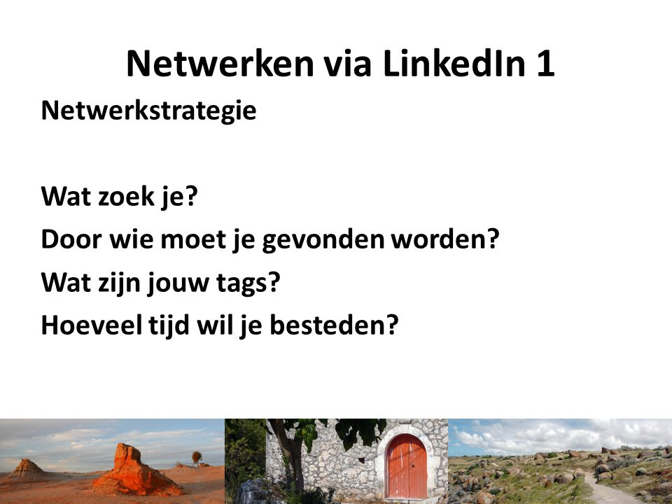 Netwerken via LinkedIn 1