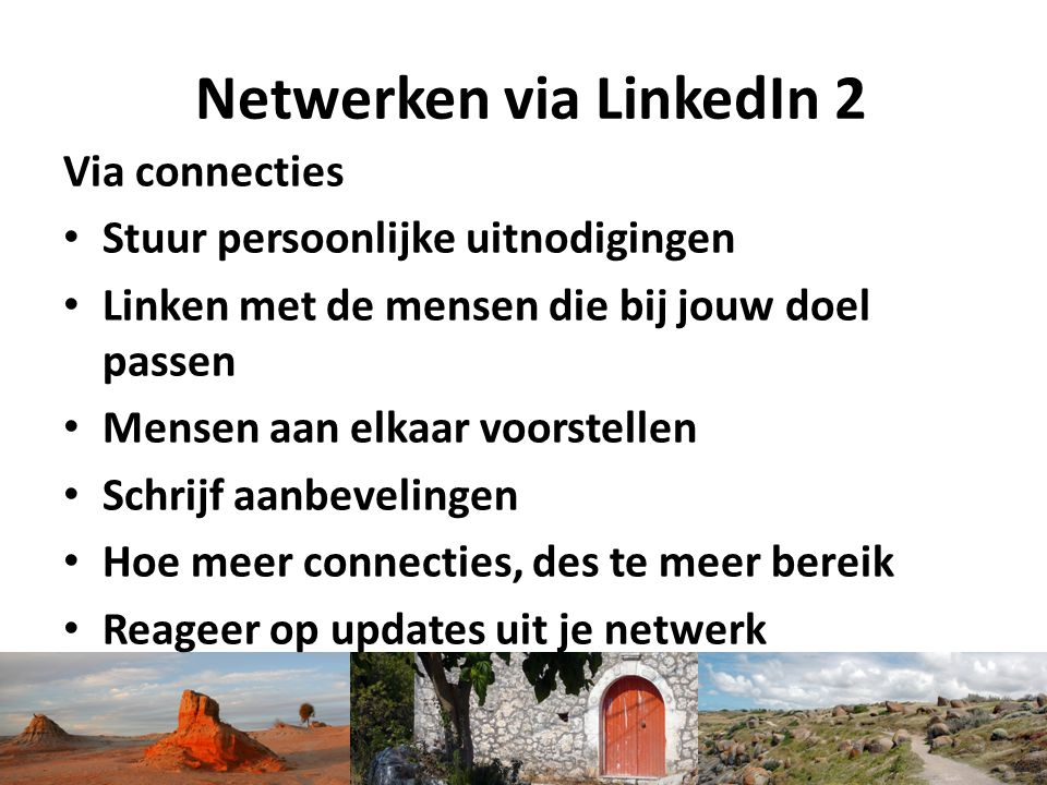 Netwerken via LinkedIn 2